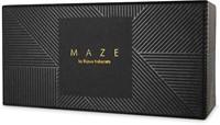 MAZE - Wide choker with leash black-3