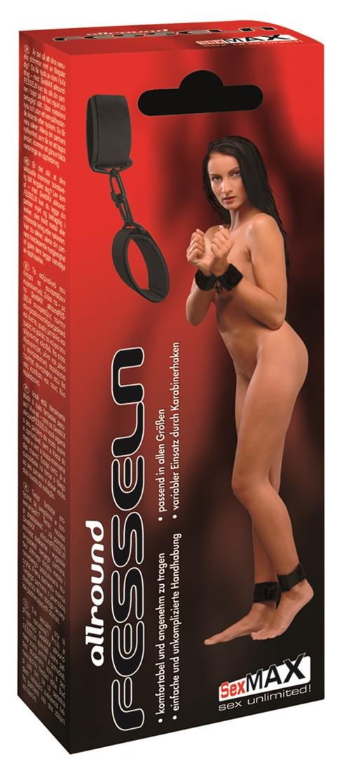 SexMAX - allroundFESSELN, Cuffs, pair, black