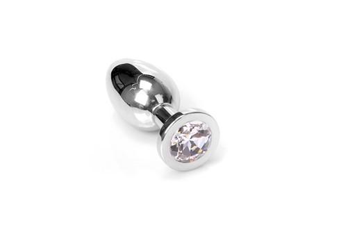 Jewel Buttplug - Medium Clear