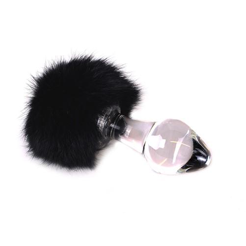 Kiotos - Glass Buttplug Black Tickler