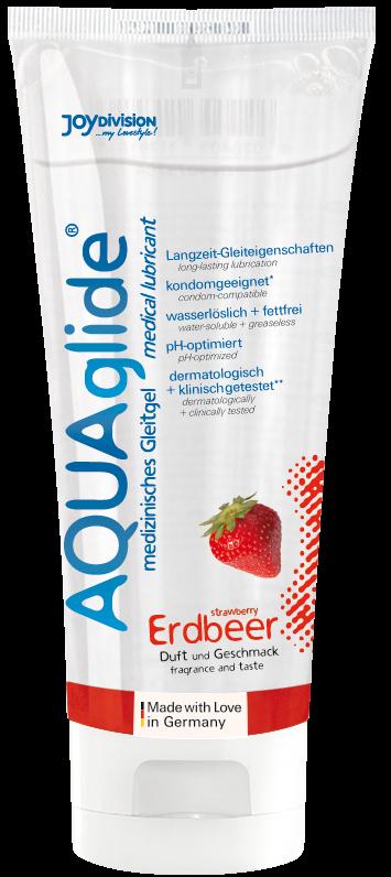 """AQUAglide """"strawberry"""", 100 ml"""