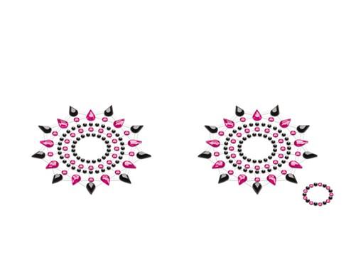 Petits JouJoux Gloria breast jewelry (set of 2), black/pink