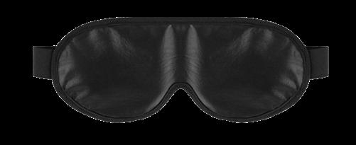Soft-Leather-Bond-X Eye mask, black