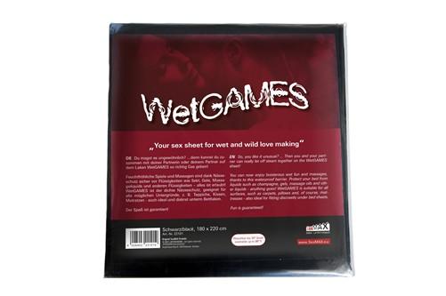 SexMAX - WetGAMES Sex sheet, black, 180 x 220 cm